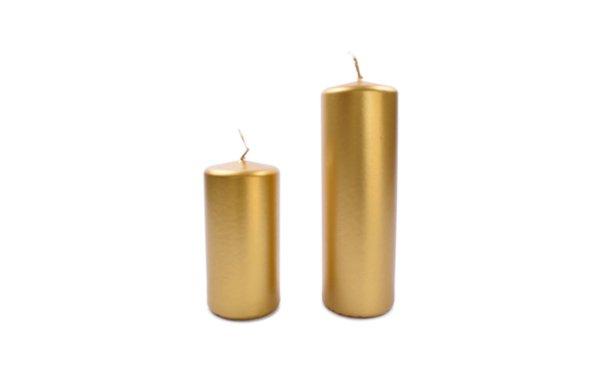 På billedet ser du variationen fra brandet i en størrelse H: 12 cm. B: 6 cm. L: 6 cm. i farven Guld