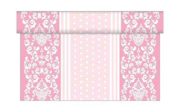 På billedet ser du variationen Bordløber. Tekstil. Bækkenlund by MANK. Bine. Rosa nuancer fra brandet i en størrelse B: 40 cm. L: 480 cm. i farven Rosa