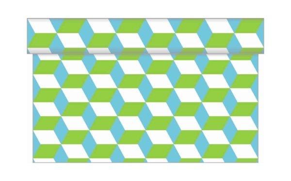 På billedet ser du variationen Bordløber. Tekstil. Bækkenlund by MANK. Chicago. Friske farver fra brandet i en størrelse B: 40 cm. L: 480 cm. i farven Lime