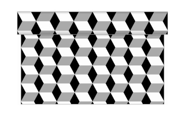 På billedet ser du variationen Bordløber. Tekstil. Bækkenlund by MANK. Chicago. Mørke nuancer fra brandet i en størrelse B: 40 cm. L: 480 cm. i farven Sort