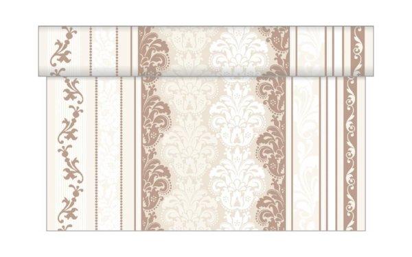 På billedet ser du variationen Bordløber. Tekstil. Bækkenlund by MANK. Marius fra brandet i en størrelse B: 40 cm. L: 480 cm. i farven Beige