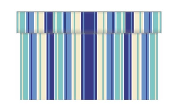 På billedet ser du variationen Bordløber. Tekstil. Bækkenlund by MANK. Stefano. Blålige nuancer fra brandet i en størrelse B: 40 cm. L: 480 cm. i farven Blå