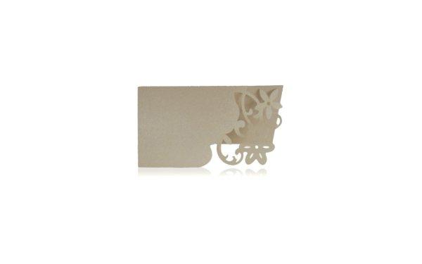På billedet ser du variationen Elfenben bordkort med blomster. 10 stk fra brandet i en størrelse H: 9,2 cm. B: 8,7 cm. i farven Elfenben