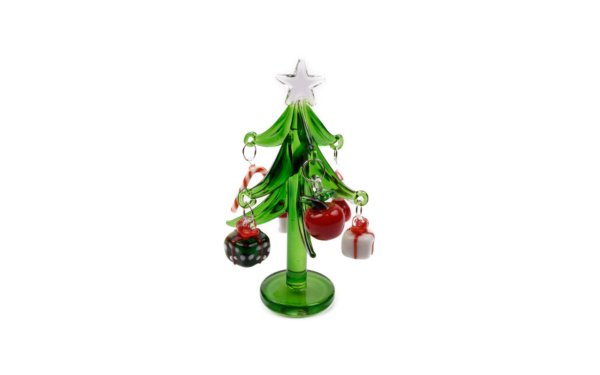 På billedet ser du variationen Juletræ m. gaver. Glas fra brandet i en størrelse H: 10 cm. B: 6 cm.
