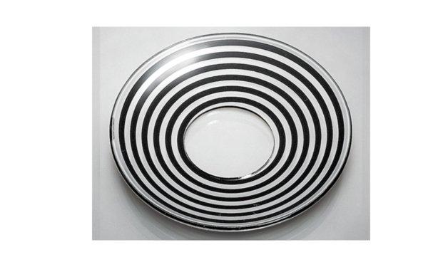 På billedet ser du variationen Lysmanchet. Basic line. Hjerte. Glas fra brandet i en størrelse D: 7,5 cm. i farven Sort