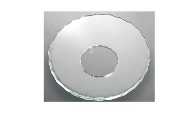 På billedet ser du variationen Lysmanchet. Basic line. Små riller. Glas fra brandet i en størrelse D: 7 cm. i farven Glas