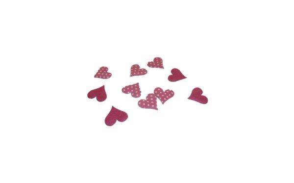 På billedet ser du variationen Små hjerter til pynt fra brandet i en størrelse B: 2 cm. L: 2 cm. i farven Pink