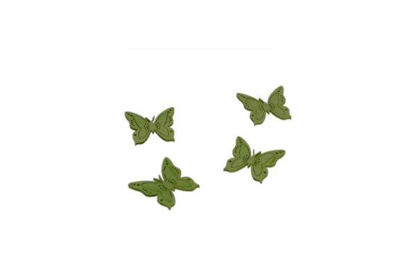 På billedet ser du variationen Små pynte-sommerfugle i grønne farver fra brandet i en størrelse B: 4 cm. L: 4 cm. i farven Grøn